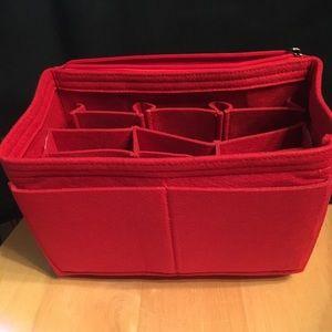 Purse Tote SMALL Speedy 25 Protector Organizer RED